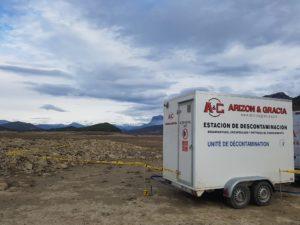 Unidad descontaminación amianto