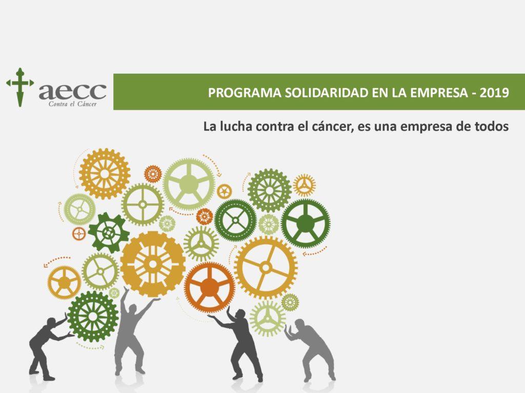 Portada programa de la AECC para empresas
